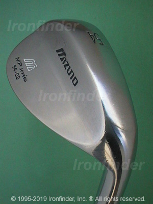 Back side of Mizuno MP Series Wedges Irons head - the primary means to identify a club