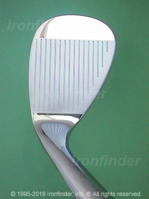 Face side of Cleveland Tour Action Reg. 588 (chrome) Irons head