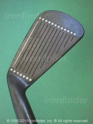 Face side of Cleveland Tour Action Reg. 588 (gun metal) Irons head