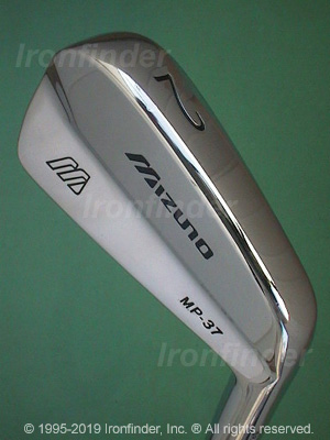 Back side of Mizuno MP-37 Irons head - the 