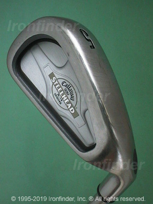 Back side of Callaway SteelHead X-14 Ladies Irons head - the primary means to identify a club