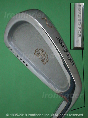 Back side of MacGregor Tourney Forged PCB Irons head - the 