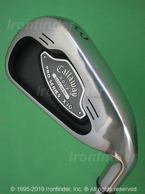 Back side of Callaway SteelHead X-16 Pro Series Irons head - the 