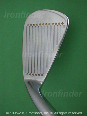 Face side of MacGregor Tourney VIP V-FOIL (cavity) Irons head