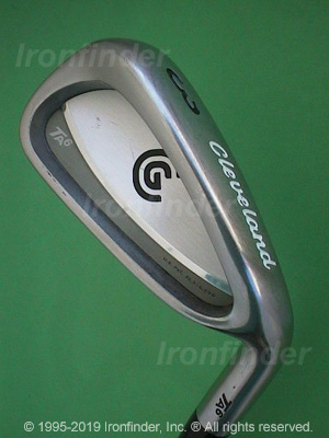 Back side of Cleveland Tour Action TA6 Irons head - the 