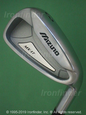 Back side of Mizuno MX-17 Irons head - the 