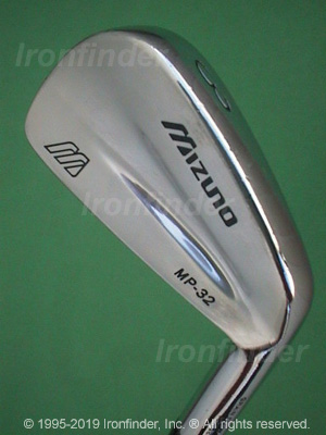 Back side of Mizuno MP-32 Irons head - the 