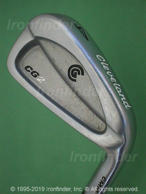 Back side of Cleveland CG2 Irons head - the 