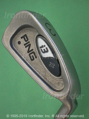 Back side of Ping i3+ Irons head - the 