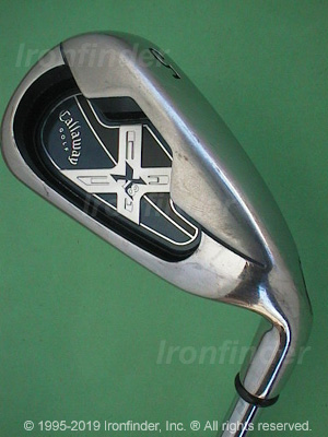 Back side of Callaway X-18 Irons head - the primary means to identify a club