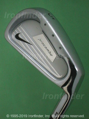 Back side of Nike procombo OS Forged Irons head - the primary means to identify a club