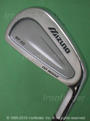 Back side of Mizuno MP-60 Irons head - the primary means to identify a club