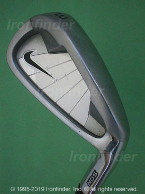 Back side of Nike NDS Irons head - the primary means to identify a club