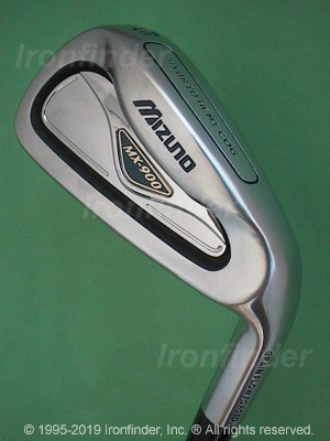 Back side of Mizuno MX-900 Irons head - the 