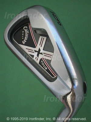 Back side of Callaway X-Tour Irons head - the 