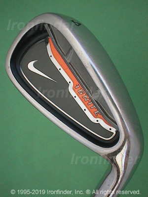 Back side of Nike Ignite Irons head - the primary means to identify a club