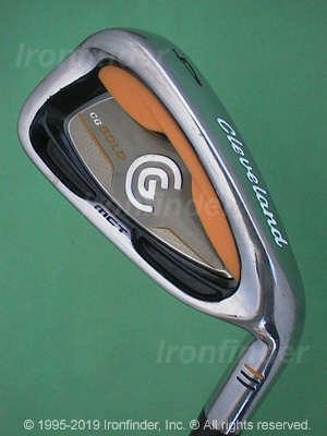 Back side of Cleveland CG Gold Irons head - the 