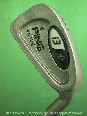 Back side of Ping I3+ BLADE Irons head - the 
