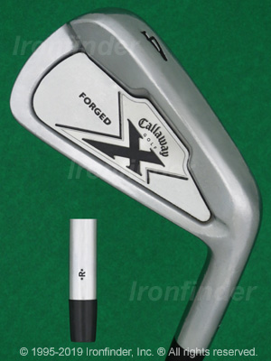 Back side of Callaway X-Forged 07 Irons head - the primary means to identify a club
