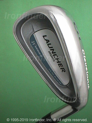Back side of Cleveland Launcher W Series Irons head - the 