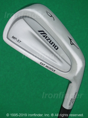 Back side of Mizuno MP-57 Irons head - the 