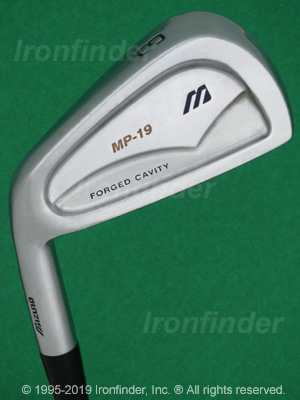 Back side of Mizuno MP-19 Forged Cavity Irons head - the 