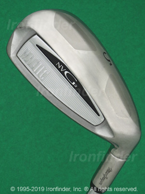 Back side of MacGregor MacTec NVG2 Irons head - the 