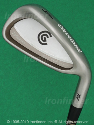 Back side of Cleveland Tour Action TA6 W-Series Irons head - the primary means to identify a club