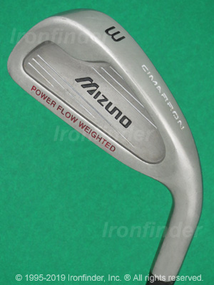 Back side of Mizuno Cimarron Irons head - the primary means to identify a club