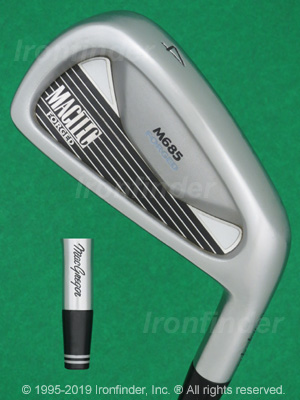 Back side of MacGregor MacTec M685 Forged Irons head - the primary means to identify a club