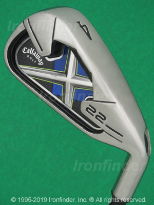 Back side of Callaway X-22 Irons head - the 
