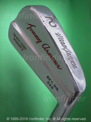Back side of MacGregor SILVER SCOT TOURNEY Rec. No. 985 Irons head - the 