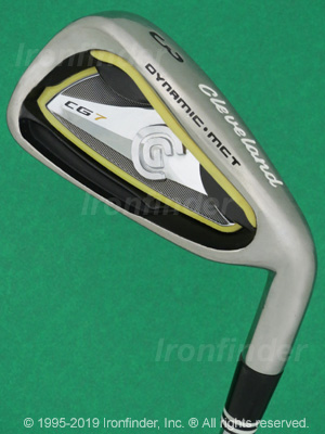 Back side of Cleveland CG7 Irons head - the primary means to identify a club