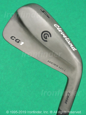 Back side of Cleveland CG1 Black Pearl Irons head - the 