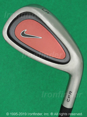 Back side of Nike CPR (Original) Irons head - the 