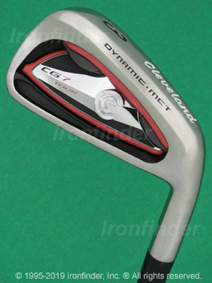 Back side of Cleveland CG7 Tour Irons head - the 