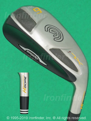 Back side of Cleveland HiBORE XLi Irons head - the 