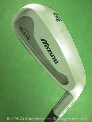 Back side of Mizuno FLI-HI II Irons head - the 