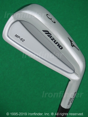 Back side of Mizuno MP-62 Irons head - the 