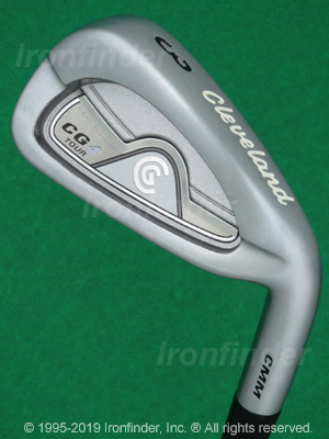 Back side of Cleveland CG4 Tour Irons head - the primary means to identify a club