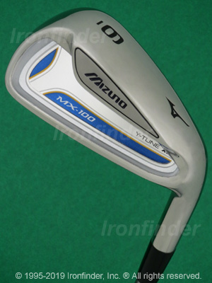 Back side of Mizuno MX-100 Irons head - the 
