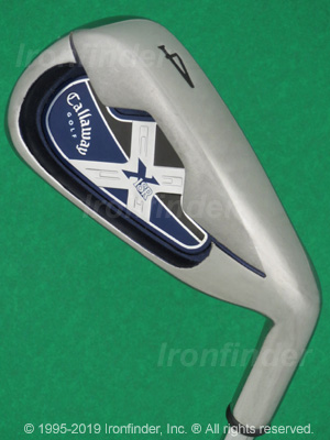Back side of Callaway X-18R Irons head - the primary means to identify a club
