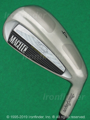 Back side of MacGregor MacTec NVG2 MID Irons head - the primary means to identify a club