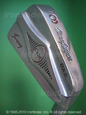 Back side of MacGregor DX Tourney DX2 Irons head - the 