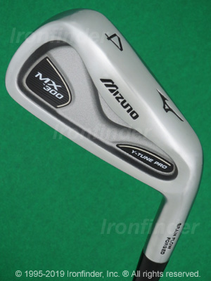 Back side of Mizuno MX-300 Irons head - the 