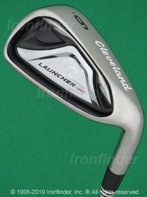 Back side of Cleveland Launcher (black-chrome cavity) Irons head - the primary means to identify a club