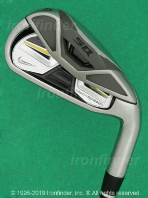 Back side of Nike SQ MACHSPEED Irons head - the primary means to identify a club