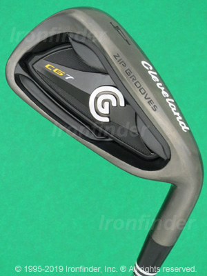 Back side of Cleveland CG7 Black Pearl Zip Grooves Irons head - the 