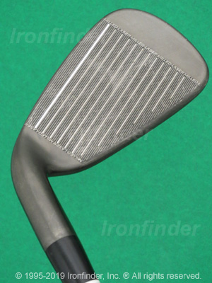 Face side of Cleveland CG7 Black Pearl Zip Grooves Irons head