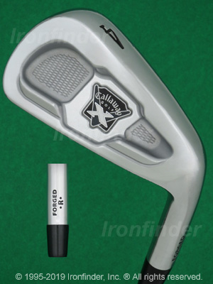 Back side of Callaway X-Forged (on hosel) 09 Irons head - the primary means to identify a club